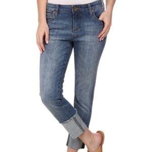 Kut from the Kloth Wide Cuff Boyfriend Jeans
